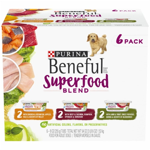 Beneful Superfood Blend Wet Dog Food Variety Pack - 6 ct Perspective: top