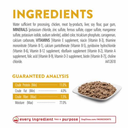 Dog Chow High Protein with Real Classic Ground Chicken Wet Dog Food Perspective: top