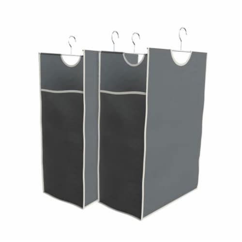 Easy Track Closet Storage Shelf Organizer System with Hanging Hamper Kit, White Perspective: top