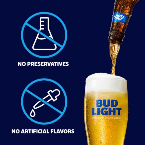 Bud Light Lager Beer Perspective: top