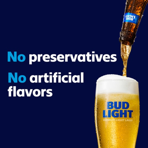 Bud Light Minis Lager Beer Perspective: top