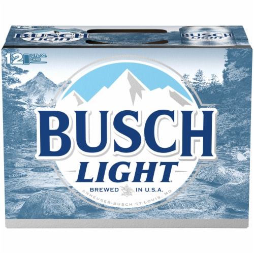 Busch Light Lager Beer Perspective: top