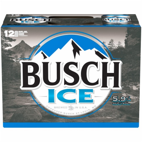 Busch Ice Lager Beer Perspective: top