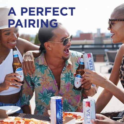 Michelob Ultra Superior Light Beer Perspective: top