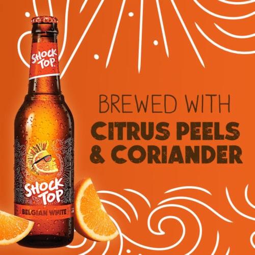 Shock Top Belgian White Ale Beer Perspective: top
