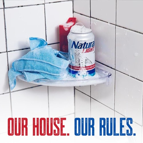 Natural Light Natty Pack Beer Perspective: top