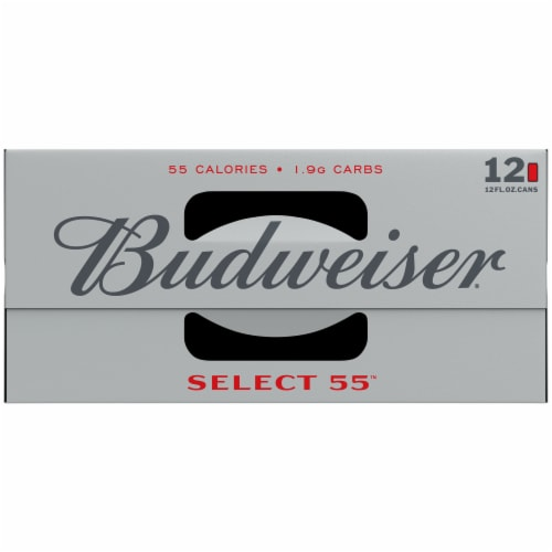 Budweiser® Select 55™ Light Lager Beer Perspective: top