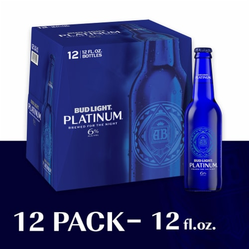 Bud Light Platinum Lager Beer Perspective: top