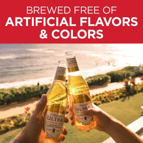 Michelob Ultra Pure Gold Organic Light Lager Perspective: top