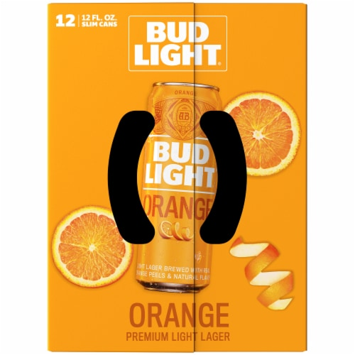 Bud Light Orange Lager Beer Perspective: top