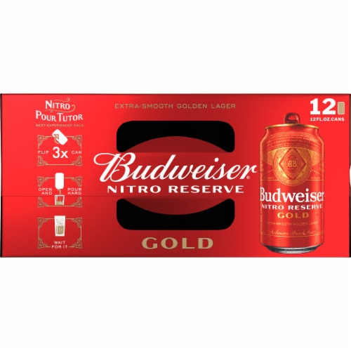 Budweiser® Nitro Reserve Gold Lager Beer Perspective: top