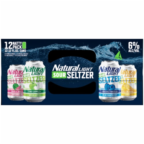 Natural Light Sour Seltzer® Variety Pack Perspective: top