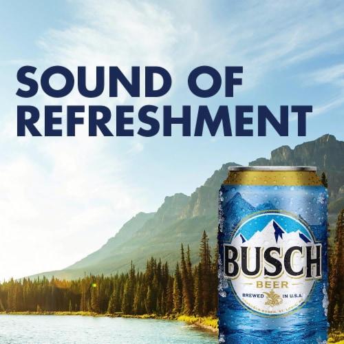 Busch Lager Beer Perspective: top