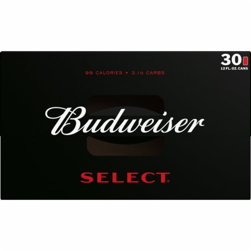 Budweiser Select Light Lager Beer Perspective: top
