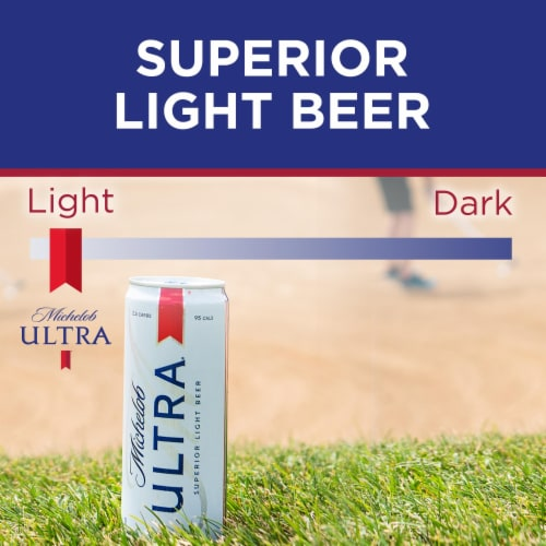Michelob Ultra Light Beer Perspective: top
