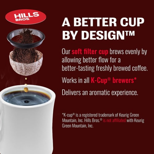 Hills Bros Single Serve Coffee Pods,Morning Roast, Light Roast Coffee, 12 Count - For Keurig Perspective: top