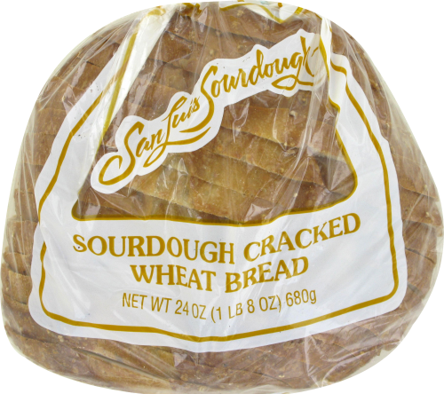 San Louis Sourdough Cracked Wheat Bread Perspective: top