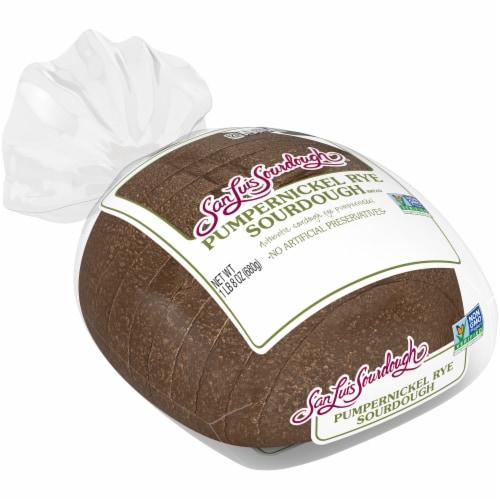 San Luis Sourdough® Pumpernickel Rye Sourdough Bread Perspective: top