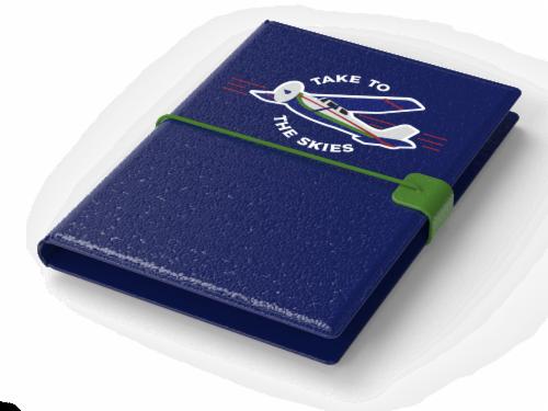 IG Design Skies Passport Holder - Navy Perspective: top