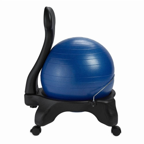 Gaiam Classic Gym Yoga Exercise Fitness Balance Ball Office Desk Chair, Blue Perspective: top