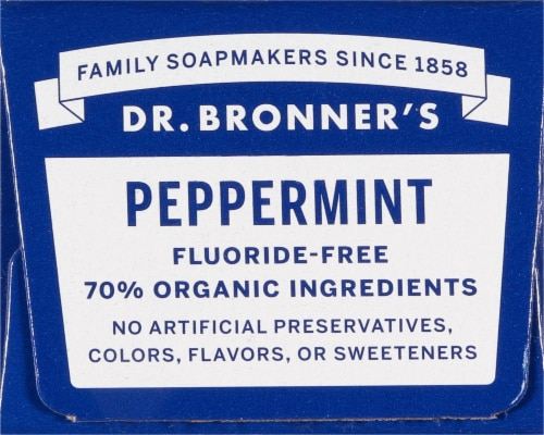 Dr. Bronner's Peppermint All-One Toothpaste Perspective: top