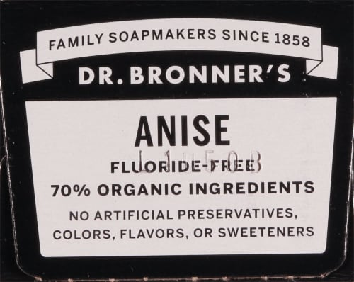 Dr. Bronner's Anise All-One Toothpaste Perspective: top