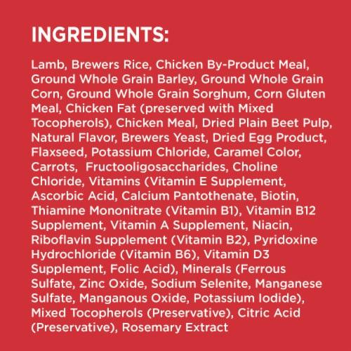 IAMS Minichunks Lamb & Rice Recipe Dry Adult Dog Food Perspective: top