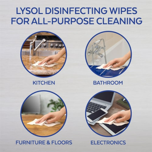 Lysol Lemon & Lime Blossom Scented Disinfecting Wipes Perspective: top