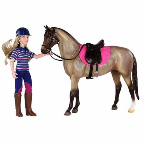 Breyer Freedom Series English Horse and Rider Doll Kids Toy Set and Accessories Perspective: top