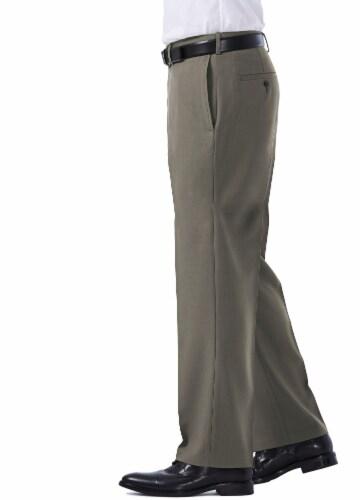 Haggar Men's E-Clo Classic Fit Dress Pants - Gray Perspective: top