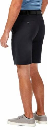 Haggar Men's Cool 18 Pro Regular Fit Stretch Shorts - Black Perspective: top