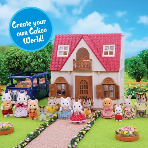Calico Critters Marshmallow Mouse Triplets Set Perspective: top