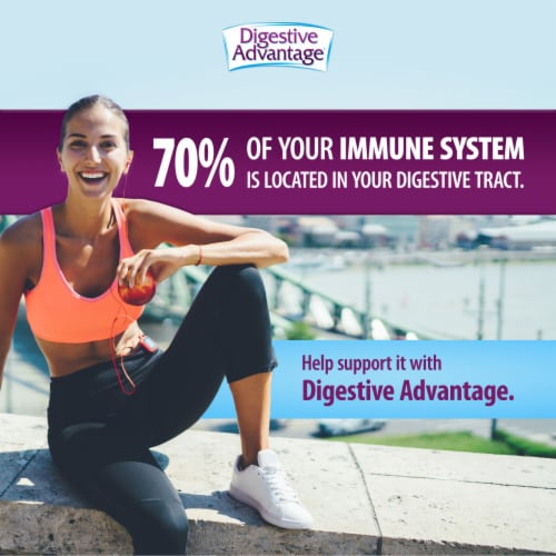 Digestive Advantage Daily Probiotic Digestive & Immune Support Capsules Perspective: top