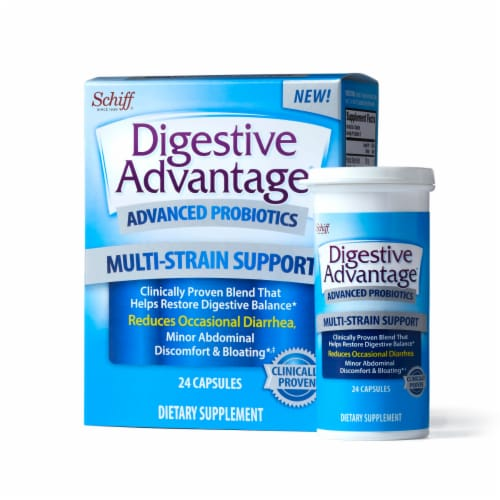 Digestive Advantage Advanced Multi-Strain Support Probiotic Capsules 24 Count Perspective: top