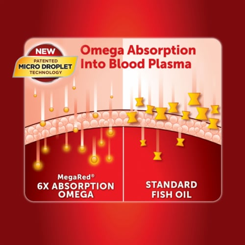 Schiff MegaRed Advanced Absorption Omega-3s Softgels 800mg Perspective: top