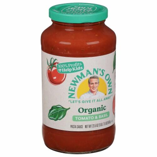 Newman's Own Organics Tomato & Basil Pasta Sauce Perspective: top