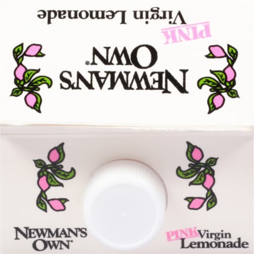 Newman's Own Pink Virgin Lemonade Juice Drink Perspective: top