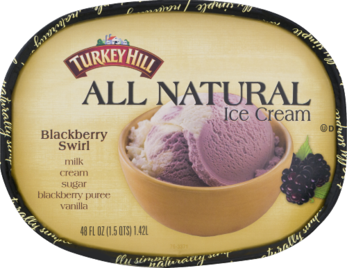Turkey Hill All Natural Blackberry Swirl Ice Cream Perspective: top