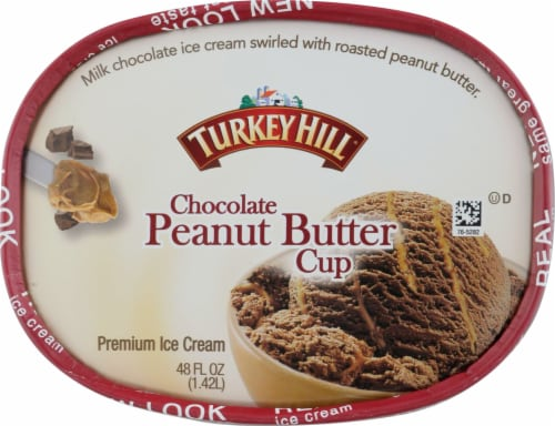 Turkey Hill® Chocolate Peanut Butter Cup Ice Cream Perspective: top