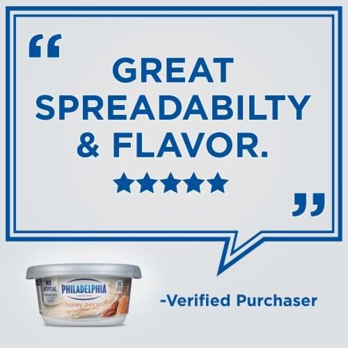 Philadelphia Honey Pecan Cream Cheese Spread Perspective: top