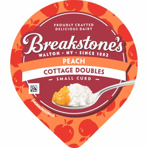 Breakstone's Cottage Doubles Peach Cottage Cheese Perspective: top