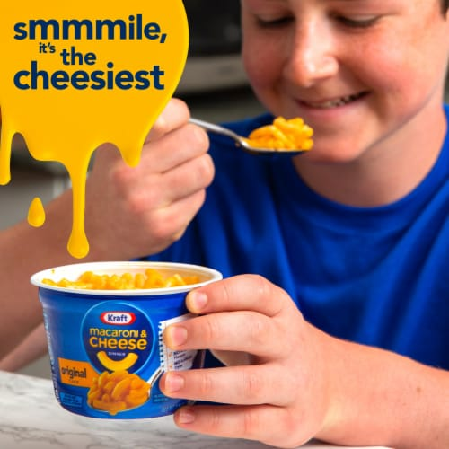 Kraft Easy Mac Original Flavor Macaroni & Cheese Cups Perspective: top