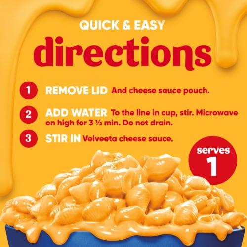 Velveeta Original Shells & Cheese Single Serve Cup Perspective: top