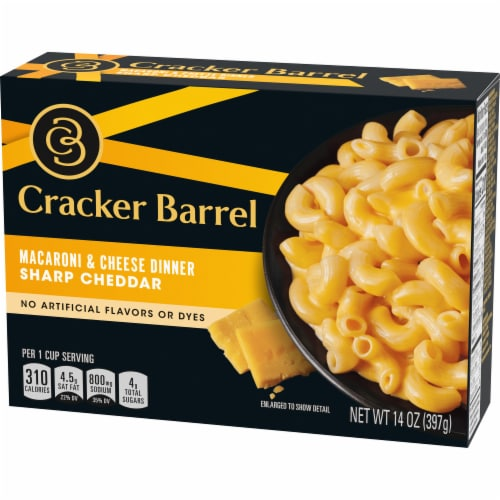 Cracker Barrel Sharp Cheddar Macaroni & Cheese Dinner Perspective: top