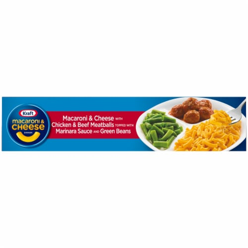Kraft First Adventures Italian Inspired Mac and Cheese with Meatball and Green Beans Perspective: top