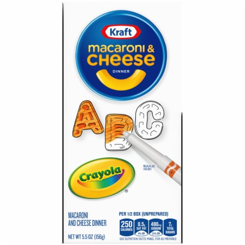 Kraft Crayola ABC Macaroni and Cheese Dinners Perspective: top