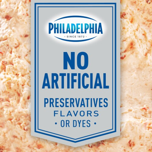 Philadelphia Roasted Red Pepper Whipped Cream Cheese Spread Perspective: top