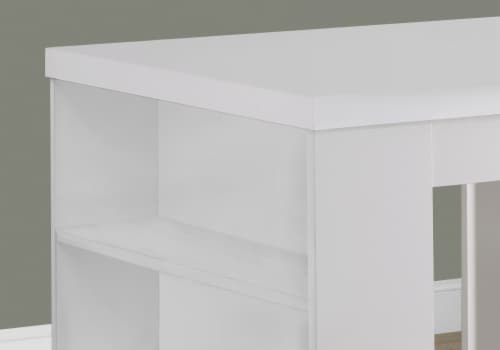 White Hollow-Core 32 X 36  Counter Height Table Perspective: top