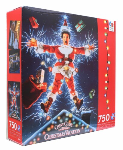 Christmas Vacation 750 Piece Christmas Jigsaw Puzzle Perspective: top