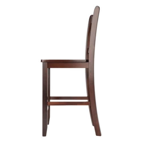 Winsome Victor 24 Inch Tall Solid Wood Counter Bar Stool Set, 2 Piece, Brown Perspective: top